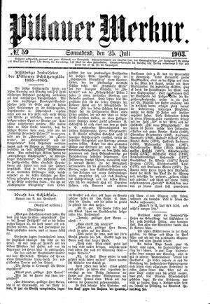 Pillauer Merkur vom 25.07.1903