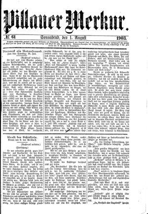 Pillauer Merkur vom 01.08.1903
