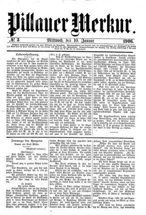 Pillauer Merkur vom 10.01.1906