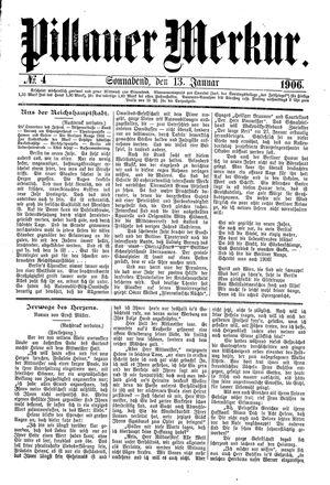 Pillauer Merkur vom 13.01.1906