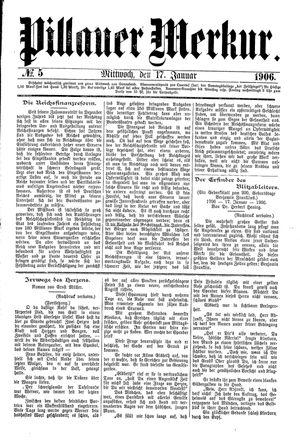 Pillauer Merkur vom 17.01.1906