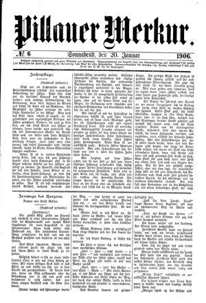 Pillauer Merkur vom 20.01.1906