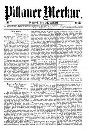 Pillauer Merkur vom 24.01.1906