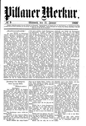 Pillauer Merkur vom 31.01.1906