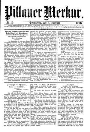 Pillauer Merkur vom 03.02.1906