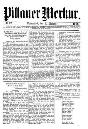 Pillauer Merkur vom 10.02.1906