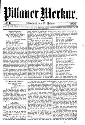 Pillauer Merkur vom 17.02.1906