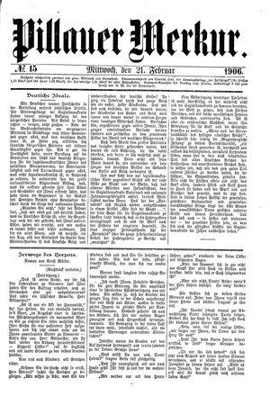 Pillauer Merkur vom 21.02.1906