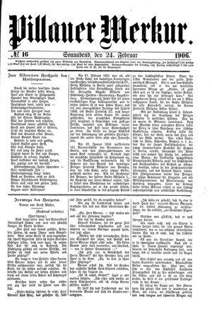 Pillauer Merkur vom 24.02.1906
