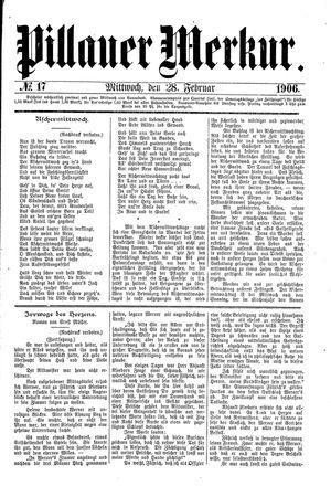 Pillauer Merkur vom 28.02.1906