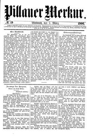 Pillauer Merkur vom 07.03.1906