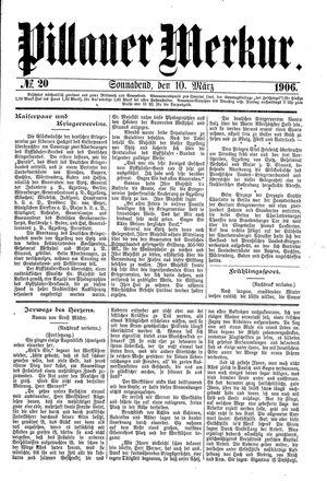 Pillauer Merkur vom 10.03.1906