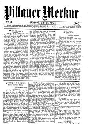 Pillauer Merkur vom 14.03.1906