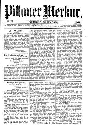 Pillauer Merkur vom 24.03.1906