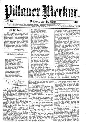 Pillauer Merkur vom 28.03.1906