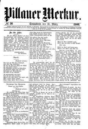 Pillauer Merkur vom 31.03.1906