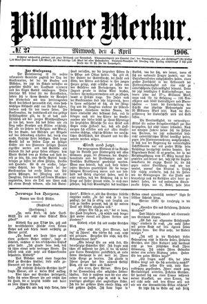 Pillauer Merkur vom 04.04.1906