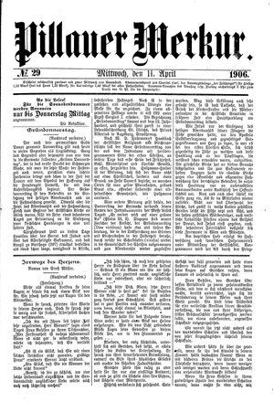 Pillauer Merkur vom 11.04.1906