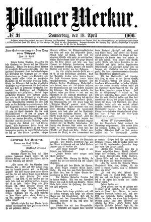 Pillauer Merkur vom 19.04.1906
