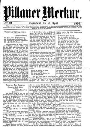 Pillauer Merkur vom 21.04.1906