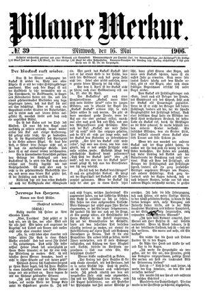 Pillauer Merkur vom 16.05.1906