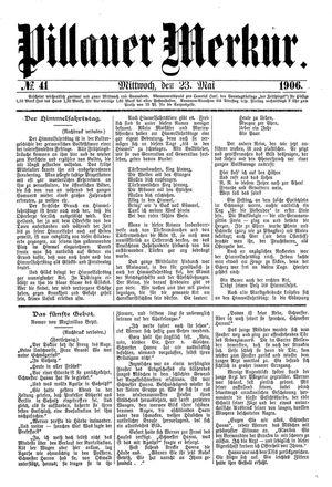 Pillauer Merkur on May 23, 1906