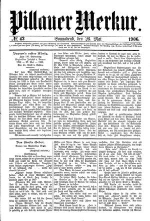 Pillauer Merkur vom 26.05.1906