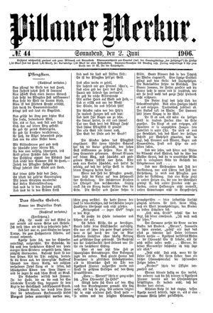 Pillauer Merkur vom 02.06.1906
