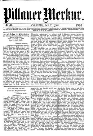 Pillauer Merkur vom 07.06.1906