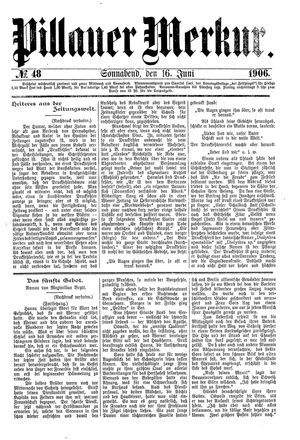 Pillauer Merkur vom 16.06.1906