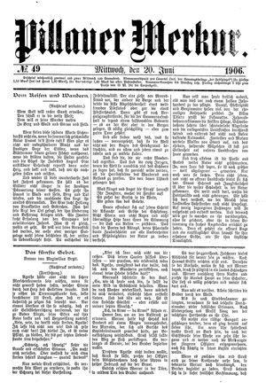 Pillauer Merkur vom 20.06.1906