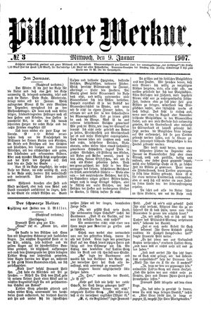 Pillauer Merkur vom 09.01.1907
