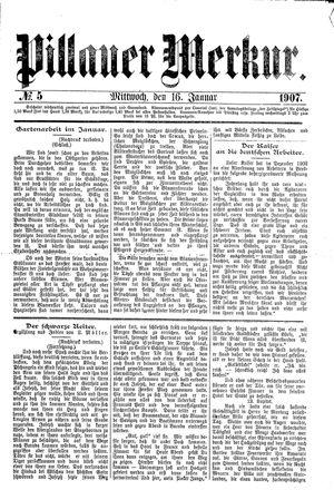 Pillauer Merkur vom 16.01.1907