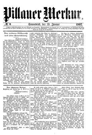 Pillauer Merkur vom 19.01.1907