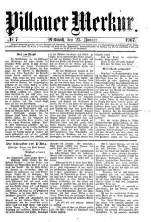 Pillauer Merkur vom 23.01.1907