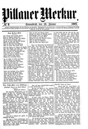 Pillauer Merkur vom 26.01.1907