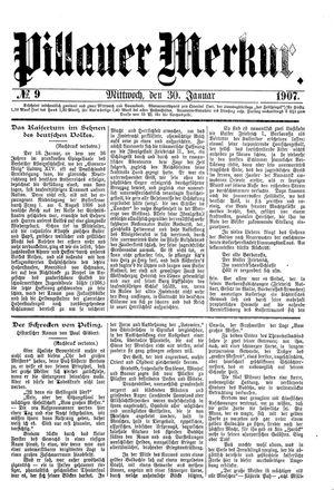 Pillauer Merkur vom 30.01.1907