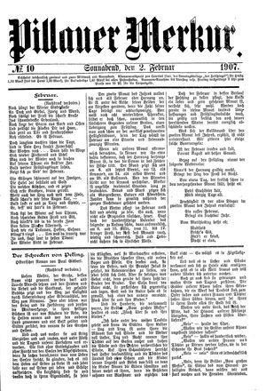 Pillauer Merkur vom 02.02.1907