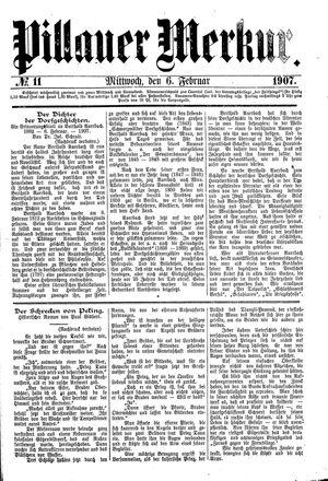 Pillauer Merkur vom 06.02.1907