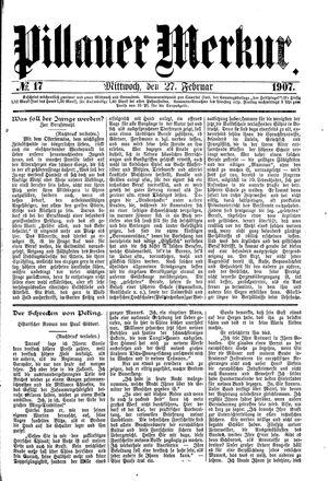 Pillauer Merkur vom 27.02.1907