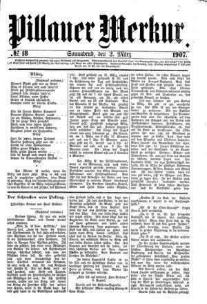 Pillauer Merkur vom 02.03.1907