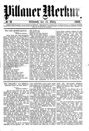 Pillauer Merkur vom 13.03.1907