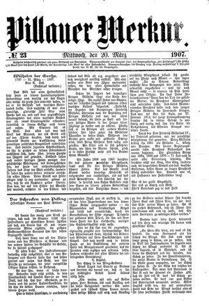 Pillauer Merkur vom 20.03.1907