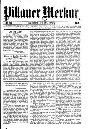 Pillauer Merkur vom 27.03.1907