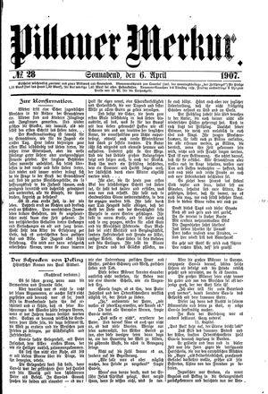 Pillauer Merkur vom 06.04.1907