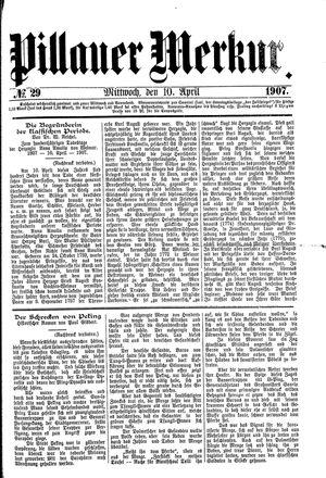 Pillauer Merkur vom 10.04.1907
