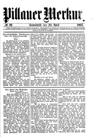 Pillauer Merkur vom 20.04.1907
