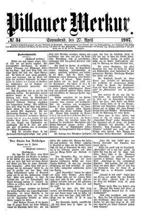 Pillauer Merkur vom 27.04.1907