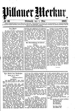 Pillauer Merkur vom 01.05.1907