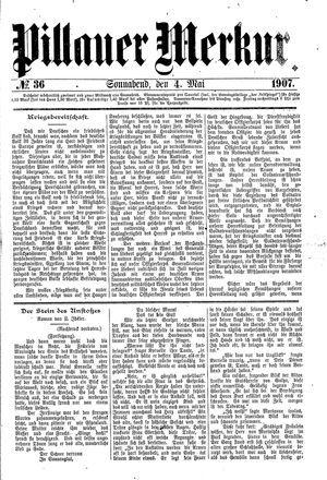 Pillauer Merkur vom 04.05.1907